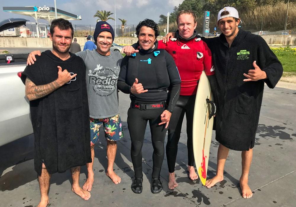 Nazaré/Portugal, WSL Nazaré Challenge 2017 | Ian Cosenza, Carlos Burle, Marcio Dias, Alex Wippel, Lucas Chumbo