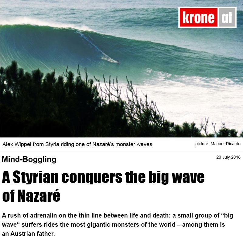 Newspaper story by Florian Gröger published online at krone.at (biggest Austrian online newspaper)